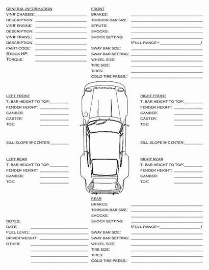 Info Sheet Sheets Race Chassis Alignment Street