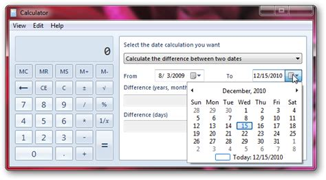 calculate difference windows