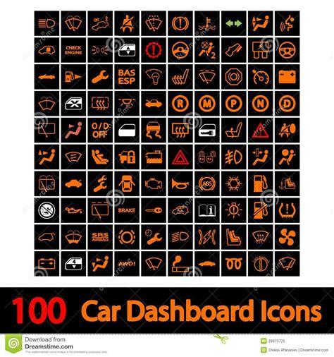 100 iconos tablero de instrumentos coche