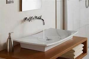 10 contemporary bathroom sink ideas rilane for Flat bathroom sinks