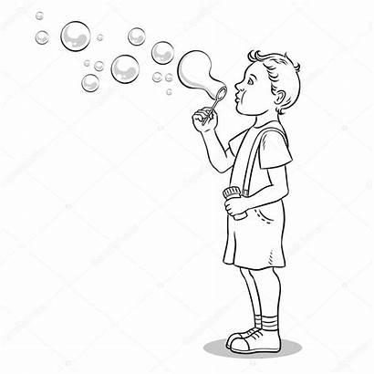 Bubbles Coloring Blowing Colorare Soap Kid Het