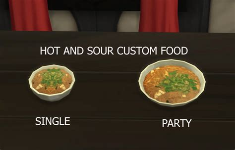 cuisine sims 3 mod the sims and sour soup custom food update 9th