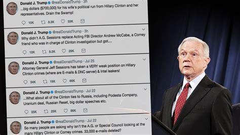 trump sessions jeff donald tweets insane