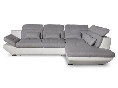 canapé blanc convertible canapé convertible avec tiroir bi matière gris clair
