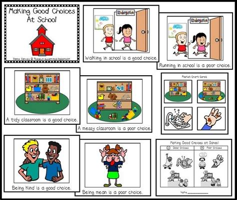 Making Good Choices Class Book And Pocket Chart Activityi'm Going To Use This At The End Of