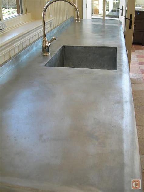 zinc wrapped countertop wood  zinc wrap grey patina