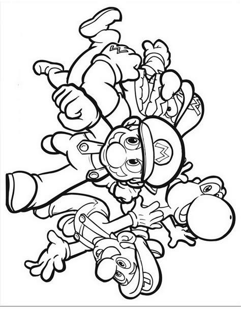 disegni da colorare mario e luigi mario bros da colorare disegni gratis