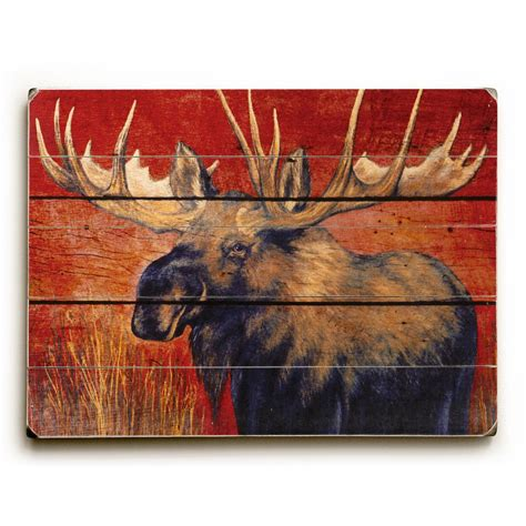 organization in the kitchen artehouse 25 in x 34 in quot moose by grand image quot planked 3775