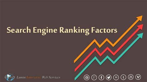 Search Engine Ranking by Search Engine Ranking Factors