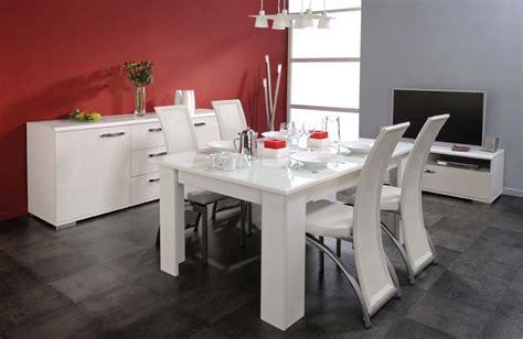 meuble salle a manger laque blanc