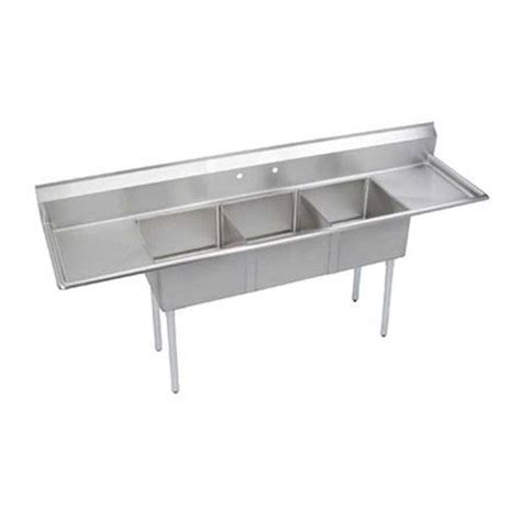 3 compartment kitchen sink elkay se3c18x18 2 18x 24 in 3 compartment sink etundra