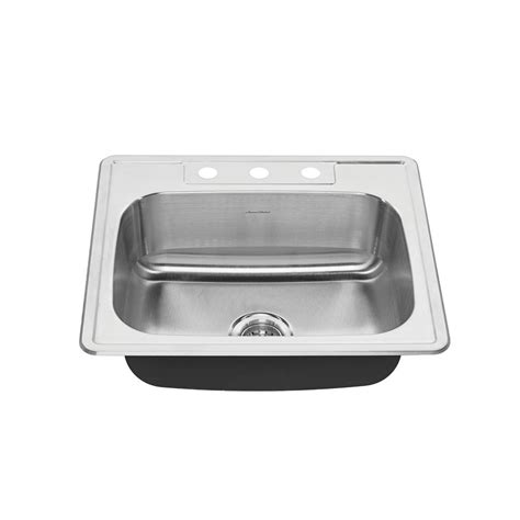 american standard colony sink american standard colony pro drop in stainless steel 25 in