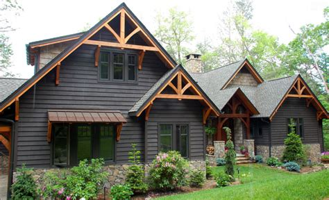 faux wood beams exterior modern rustic homes with black exteriors mountain modern