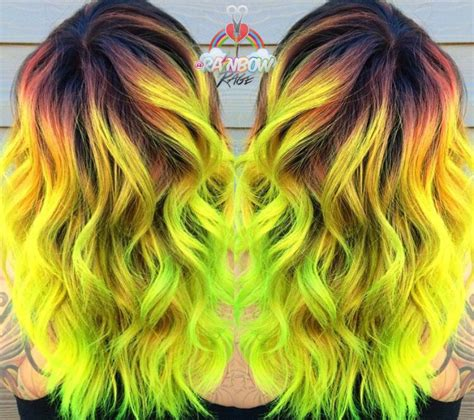 Black And Yellow Hair Color by Neon Yellow And Lime Green Hair Color By Harris