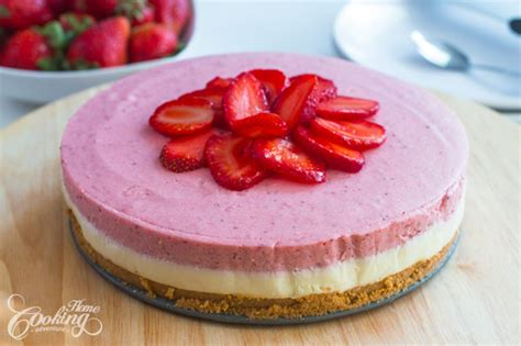 cakes to bake at home no bake white chocolate strawberry mousse cake home cooking adventure