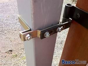 Gond De Portail Reglable A Visser : installation portail mes poteaux sont mal install s ~ Dailycaller-alerts.com Idées de Décoration