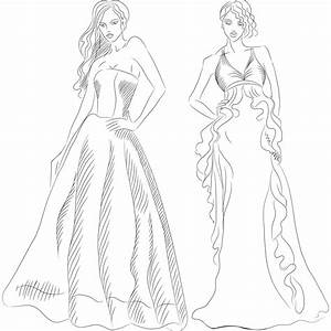 colorier dessin de mode related keywords suggestions With coloriage robe