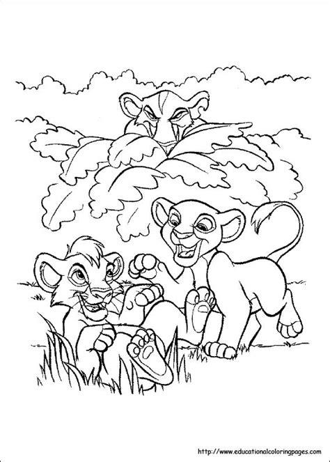 lion king coloring educational fun kids coloring pages  preschool skills worksheets