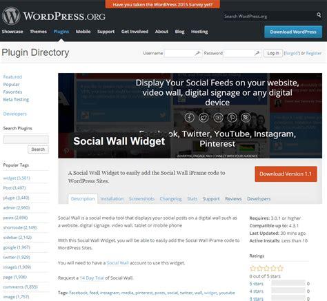 display  social wall  wordpress social wall