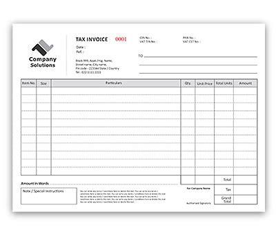 print memo pad bill book design for invoice a4 offset or digital printing