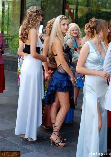 Russian Graduates In A Fountain