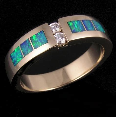 australian opal and s wedding ring