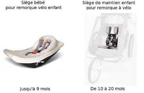 siège bébé pour remorque vélo kiddy 101 remorque vélo enfant avec kit piéton