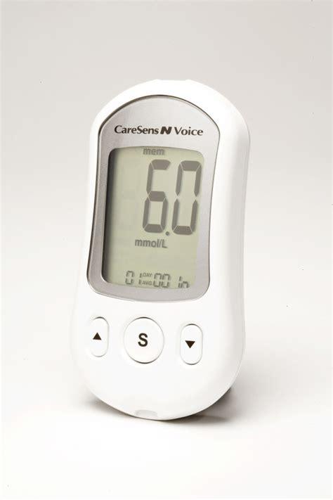 talking blood test meter  diabetics