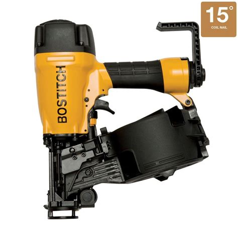 Bostitch Floor Nailer Adjustment by Bostitch 15 Degree Cap Nailer N66bc 1 The Home Depot
