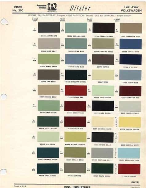 original vw beetle paint schemes coccinelles vw
