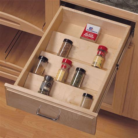Knape & Vogt Wood Spice Tray Drawer Insert  Kitchensourcecom