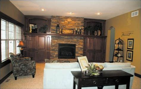 pictures  living room    centered fireplace