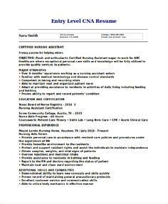 Resume Summary Exles Entry Level by Free Sle Certified Nursing Assistant Resume Creative