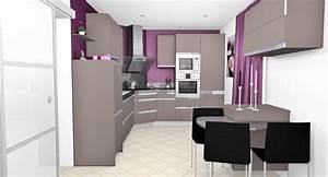 cuisine violet et blanc meilleures images d39inspiration With cuisine moderne noir et blanc