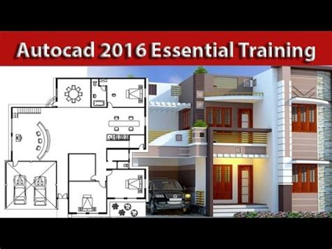 autocad architectural house  plan tutorial  beginners