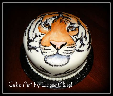 tiger cake ideas  pinterest cake decorating