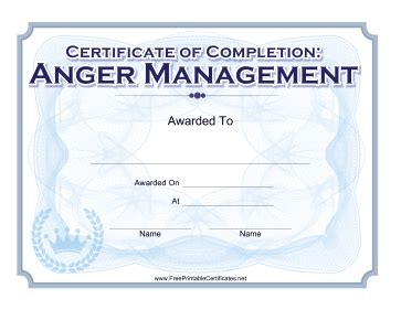 celebrate  completion   anger management