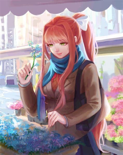 Monika Visits A Local Flower Shop 💚 Mikavey On Deviantart