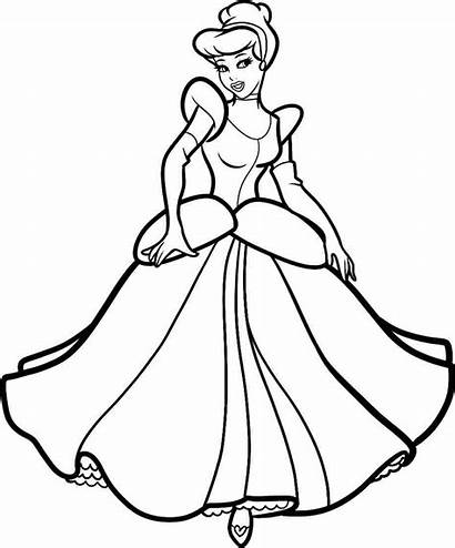 Cinderella Drawing Princess Getdrawings