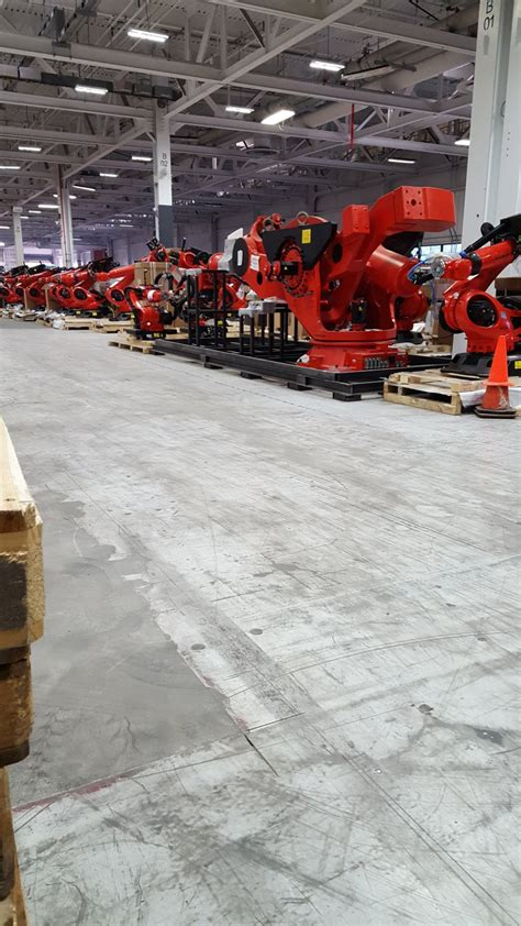 leaked tesla factory  reveal alien robot army
