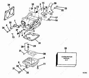 Evinrude 1979 140 - 140940r  Carburetor