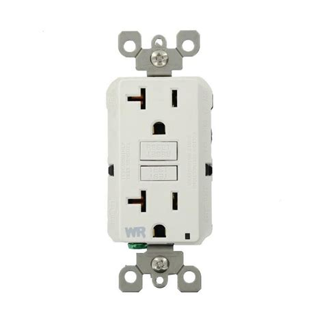 home depot l post outlet ge 20 amp backyard outlet with gfi receptacle u010010grp