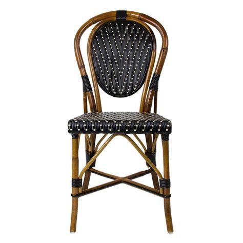 black mediterranean bistro chair dining room
