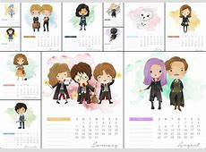 Calendario 2018 de Harry Potter para Imprimir Gratis Oh