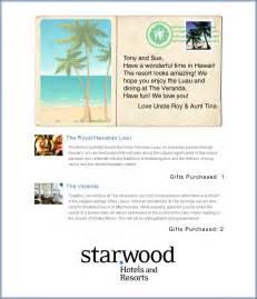 gift wedding registry starwood hotels honeymoon registry