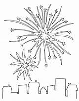 Artifice Feux Explosion Coloriage Momes Coloriages sketch template