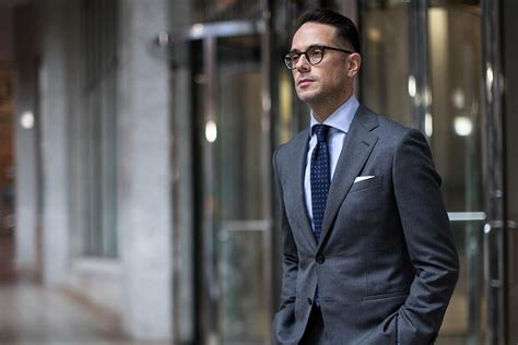 All Business The Classic Charcoal Grey Suit He Spoke Style
