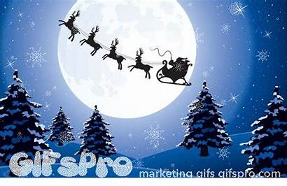 Santa Christmas Gifs Background Holiday Vector Animated