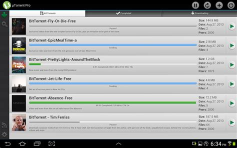 utorrent android utorrent pro android droidsoft