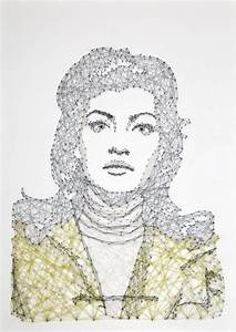 12 breathtaking art projects made from thousands of for New thread nail portraits by pamela campagna
